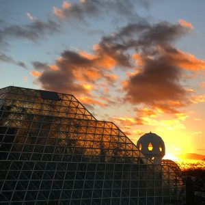 Sunset at Biosphere 2.