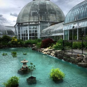 The Belle Isle Conservatory in Detroit, Michigan.