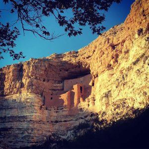 Montezuma's Castle near the Mogollon Rim in northern Arizona.