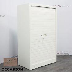 armoire metallique blanc rideaux jec
