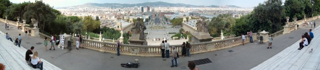 Barcelona panorama from the National Art Museum of Catalonia