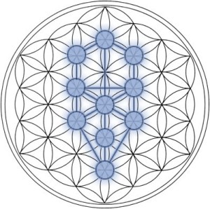 The Tree of Life with the Flower of Life