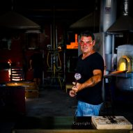 Murano glass blower, Venice