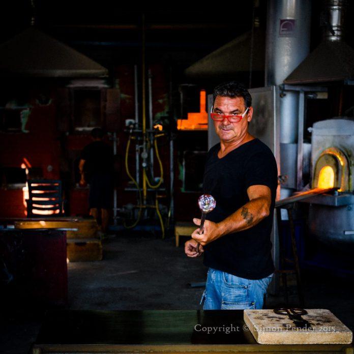 Murano glass blower, Venice