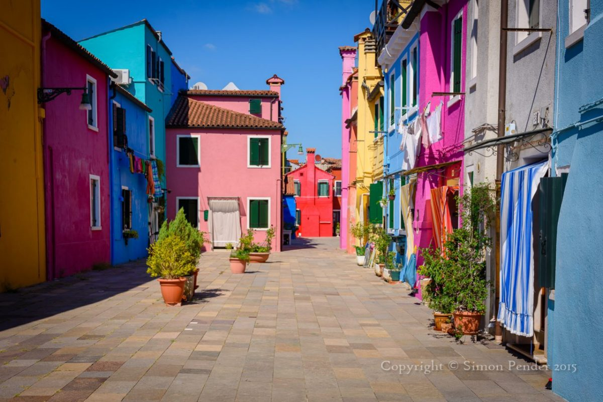Coloured houses, Burano, Venice