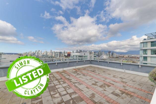 1806 111 E 1ST AVENUE Vancouver | R2561201 | 3 Bedroom + Den | 1,277 sq.ft. Penthouse |  Huge Roof Deck Olympic Village Court Ordered Sale  $1,780,000