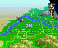 Ogre Battle (SNES) - Map
