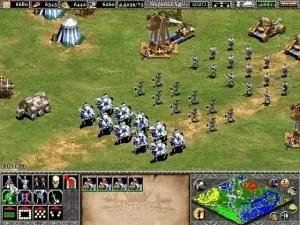 Différents choix de formations automatiques d'unités dans Age of Empires II: The Age of King (Ensemble Studios, 1999) (source).