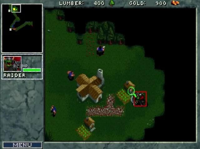 Capture d'écran personnelle de Warcraft: Orcs & Humans.