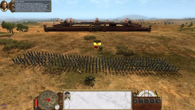 On met en scène certains événements de l'histoire de l'humanité dans Empire: Total War (source).