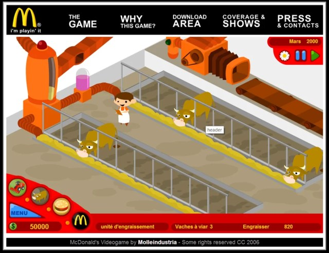McDonald's Videogame (Molleindustria, 2006)