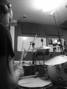 In the studio with the Claire Barker Band