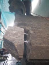 Imperniatura con barre inox di una frattura nella pietra