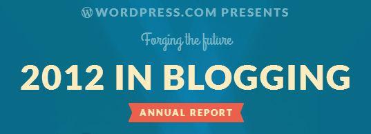 2012 in Blogging