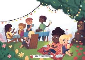 Illustration - Family Picknich