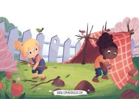 Illustration - Building the Den