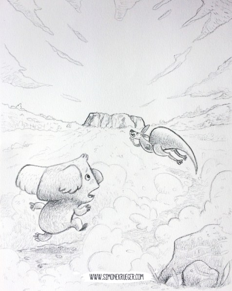 Sketch of the Cover illustration.