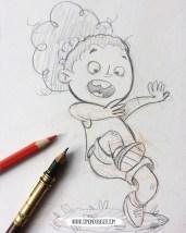 Sketch - Startle Girl