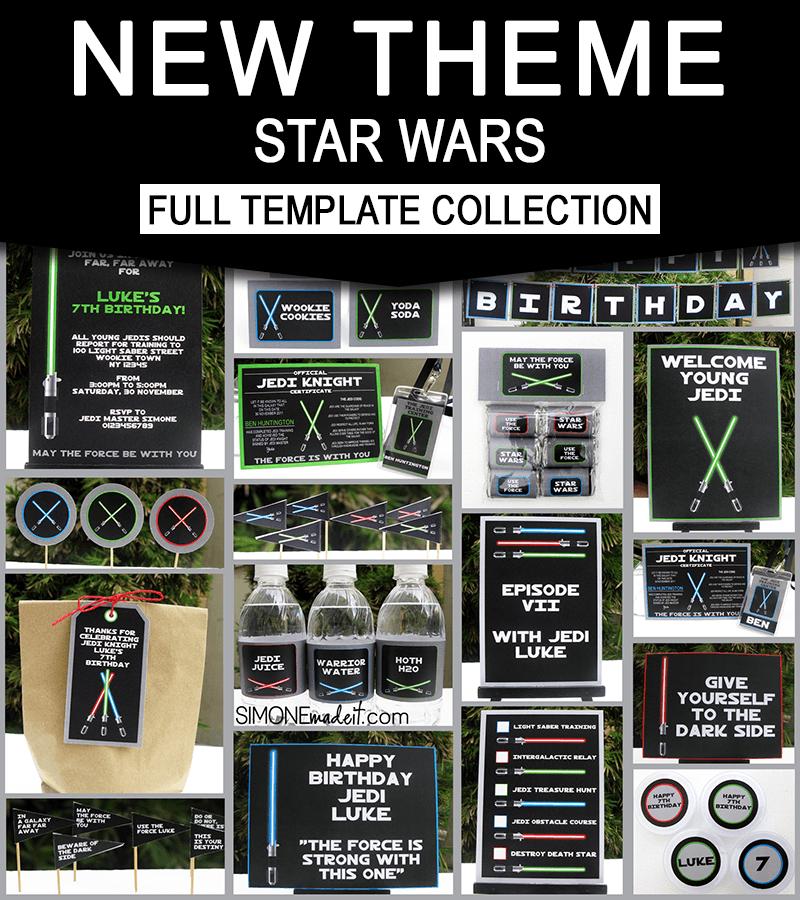 Star Wars Jedi Training Birthday Party Printables