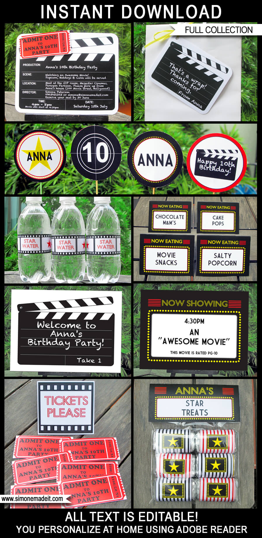 Birthday Invitations 6 X 4