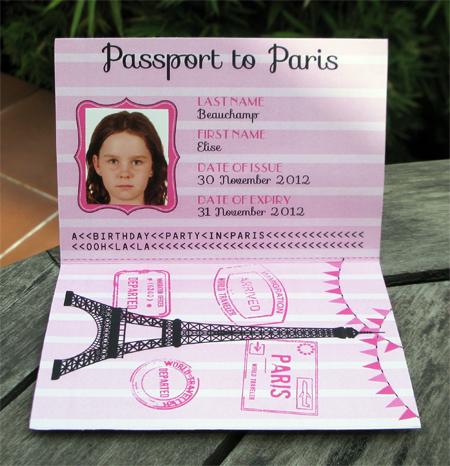 birthday party in paris invitations printables