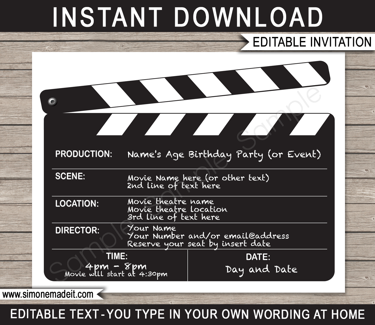 Hollywood Theme Party Invitations – gangcraft.net