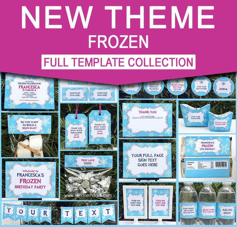 frozen birthday party printable templates new