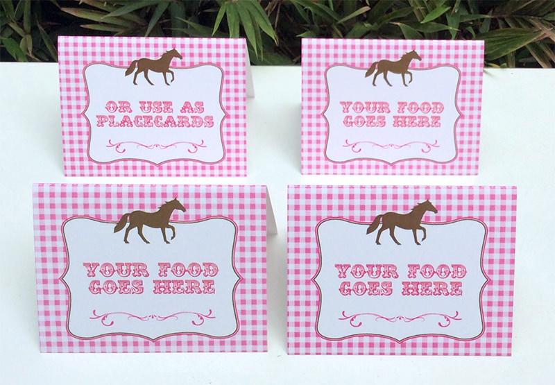 horse birthday party printable templates new