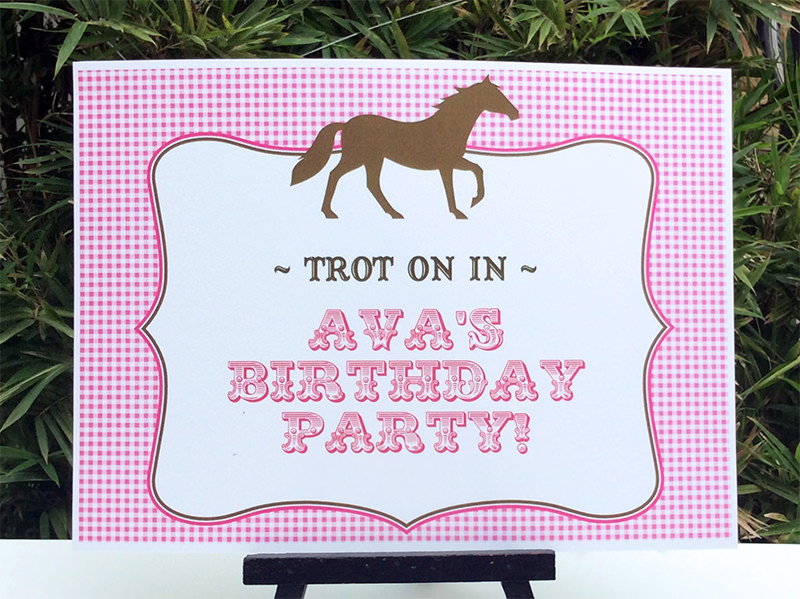 horse birthday party printable templates new