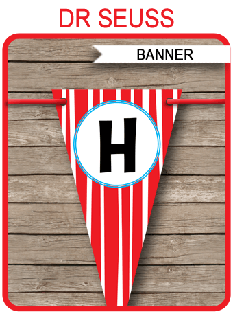 Dr Seuss Party Banner Template Birthday Banner Editable Bunting