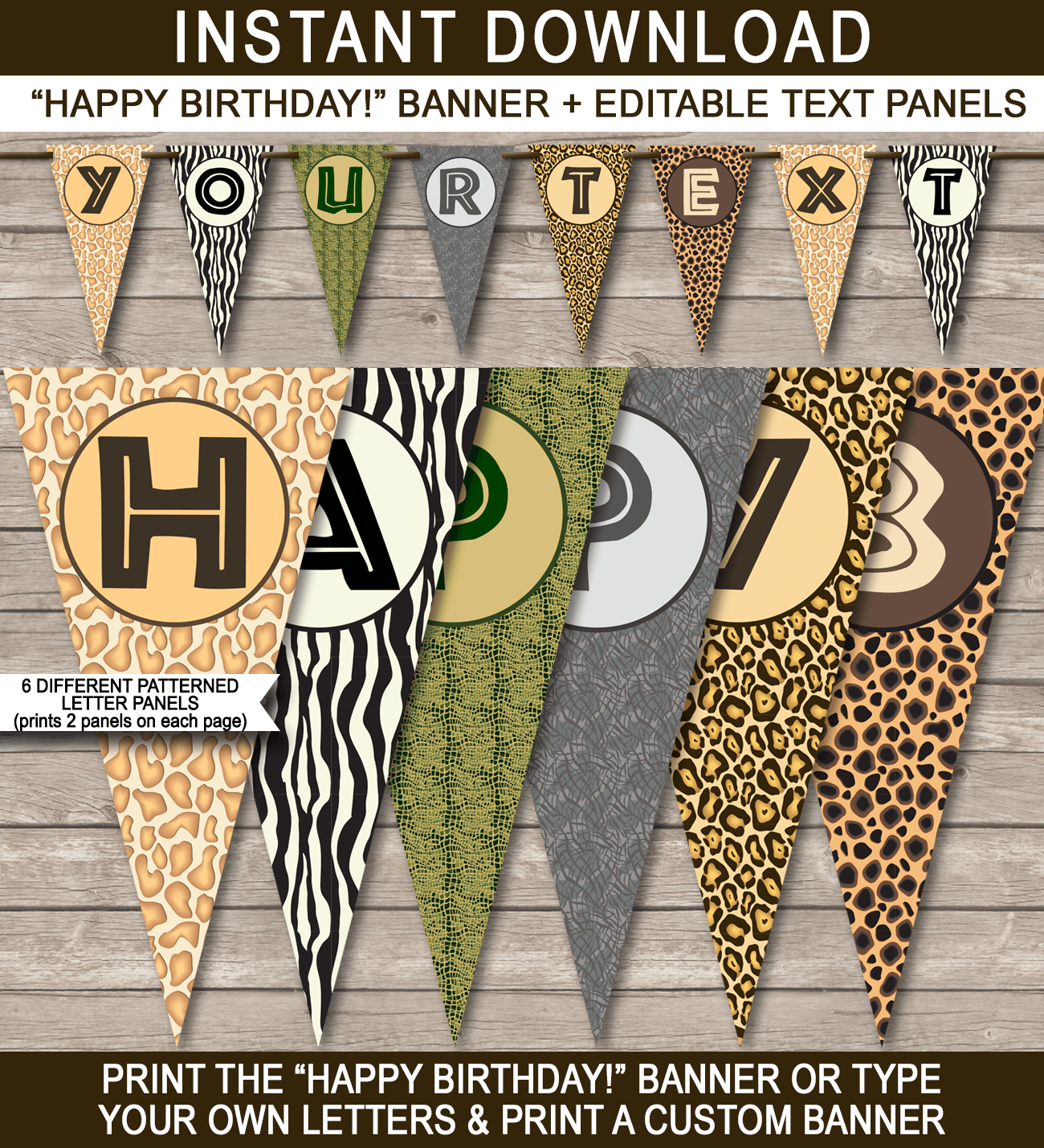 Zoo Or Safari Party Banner Template