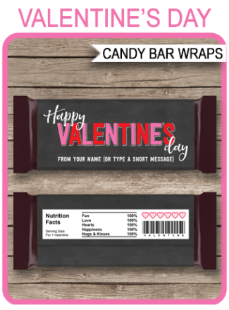 Printable Candy Bar Wrappers Archives SIMONEmadeit Party Printables