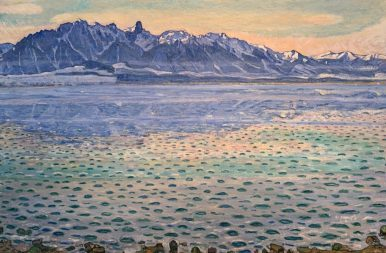 Ferdinand Hodler Le lac  de Thoune et la chaîne du Stockholm, 1904, Huile sur toile
