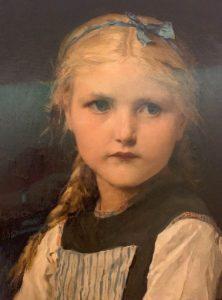 Tableau Albert Anker, portrait d'une petite fille, 1885, huile sur toile