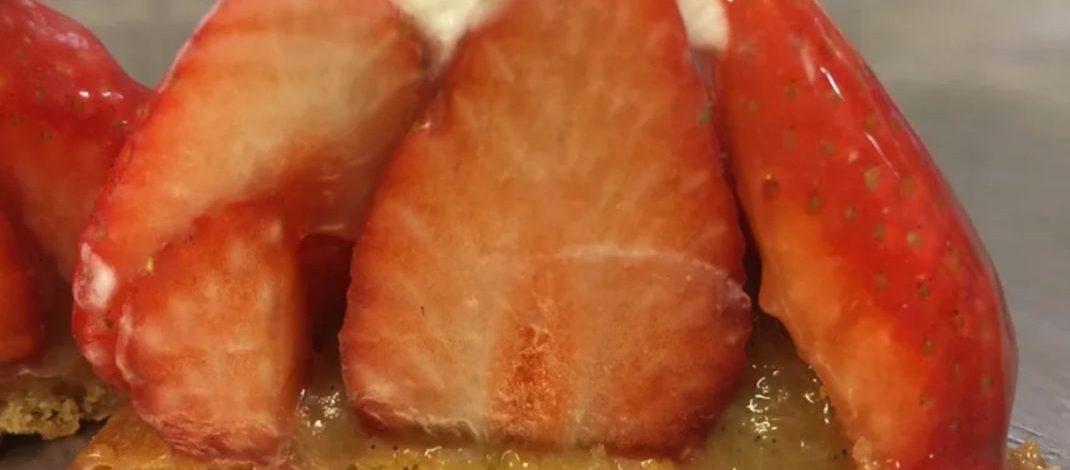 sablé breton rhubarbe fraise Gillig