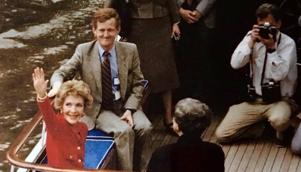 Gilbert Hadey et Nancy Reagan mars 1989