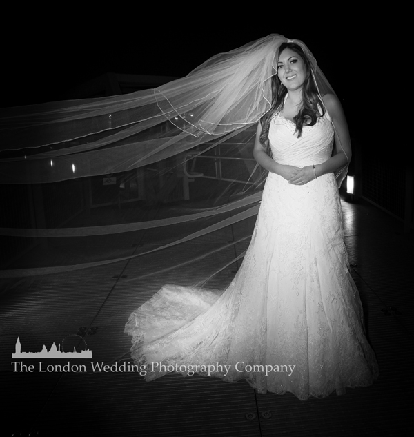 The bride during the evening