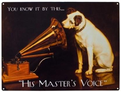 HMV Vintage Poster