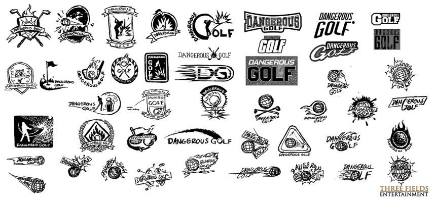 Dangerous Golf Logo Development