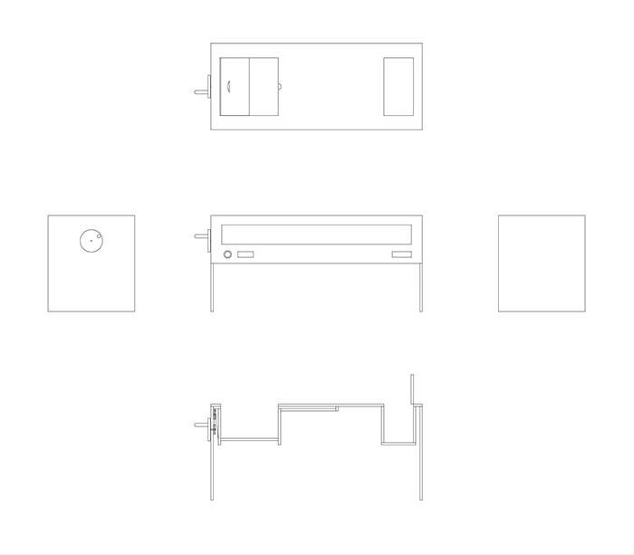 Prop design moving coffee table idea