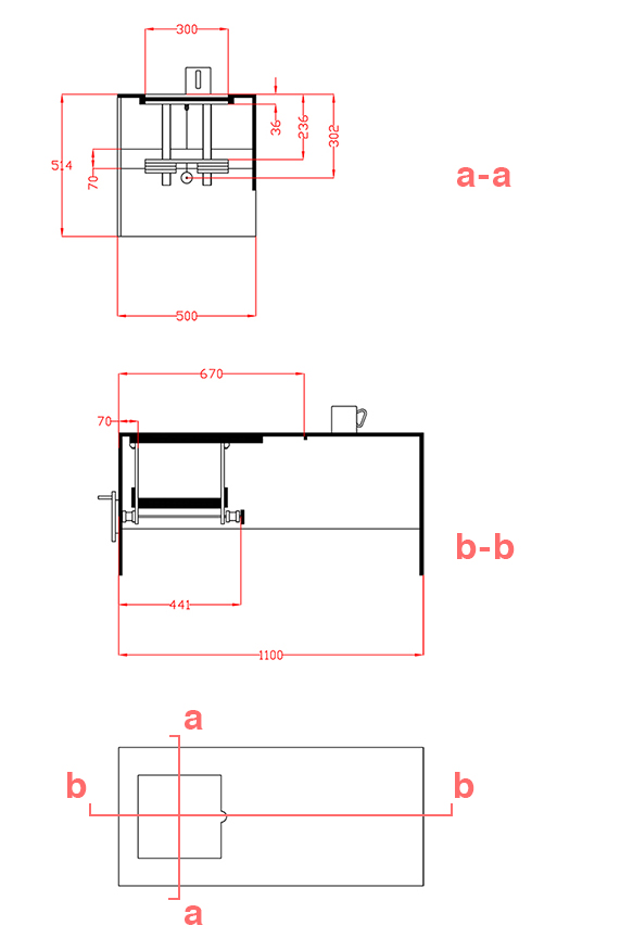 Furniture Design Technical Drawing