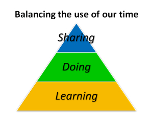 Balancing the use of our time