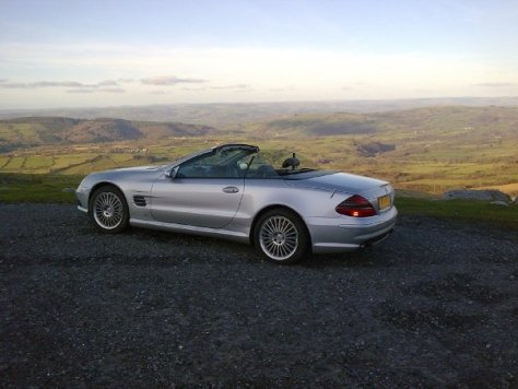Mercedes SL55 AMG in Wales