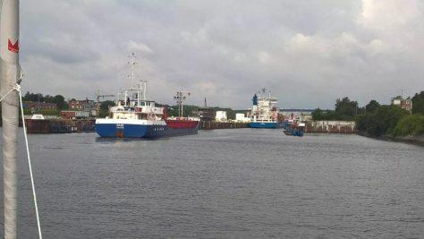 Kiel canal entrance