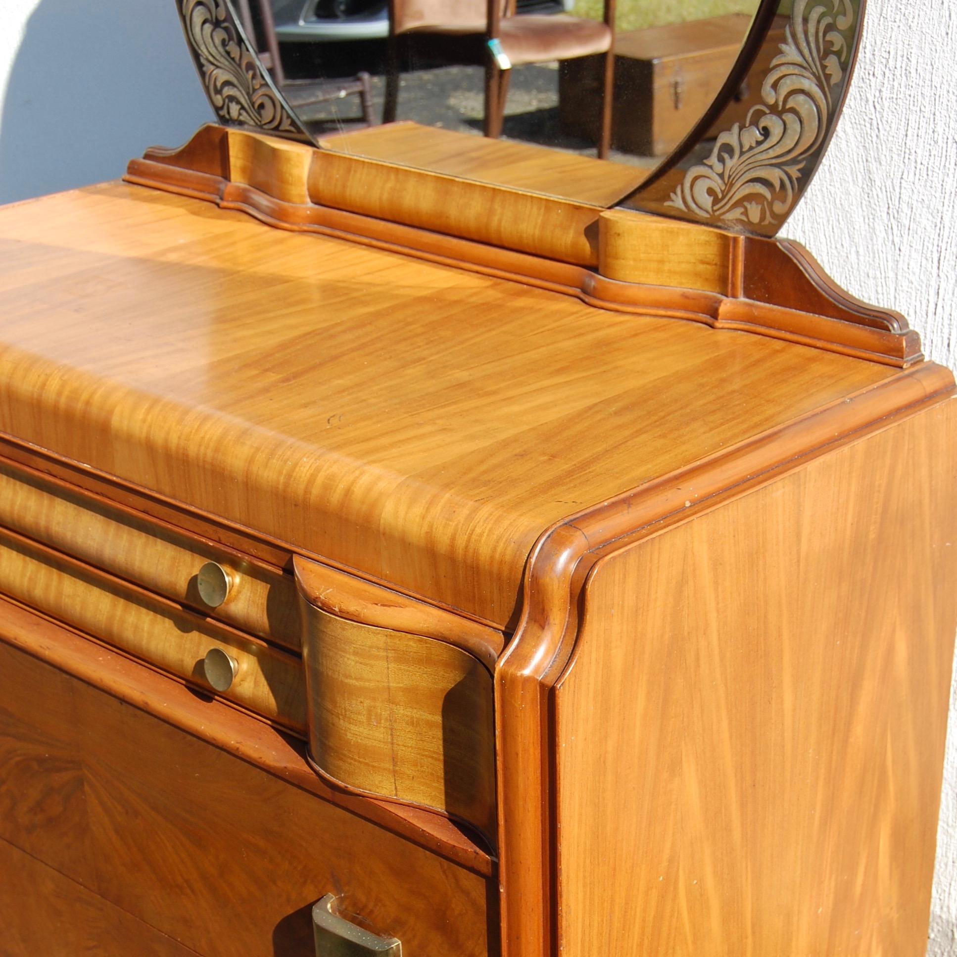 Art Deco Dresser With Mirror Simon Vintage