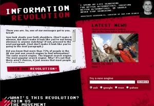 Information Revolution website screenshot