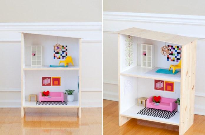 3 how to turn a Rast nightstand into a modern dollhouse via simphome