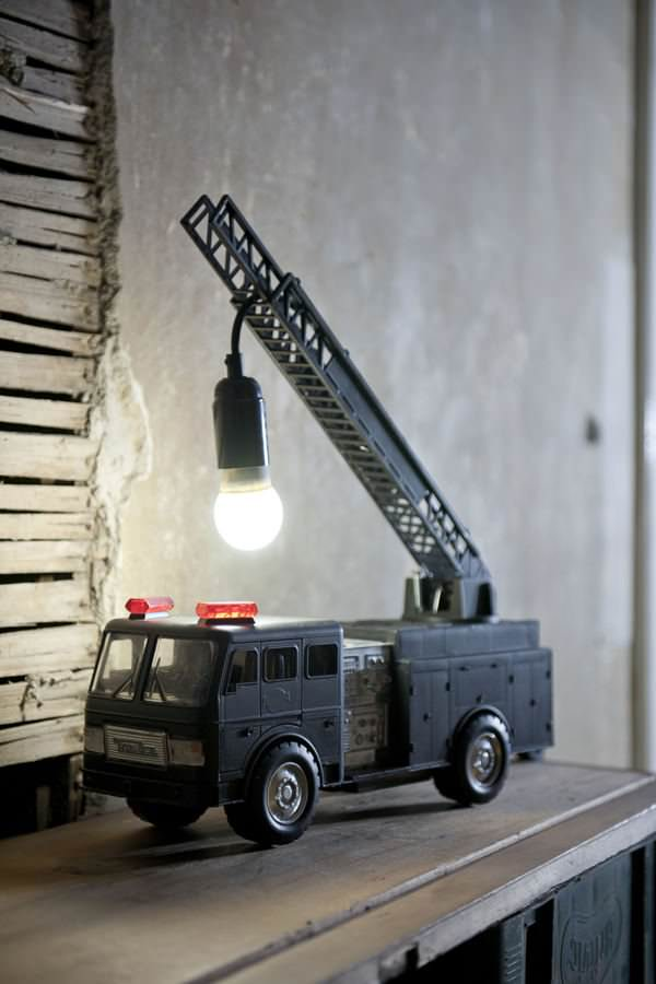 5 Fire Truck Table Lamp via simphome