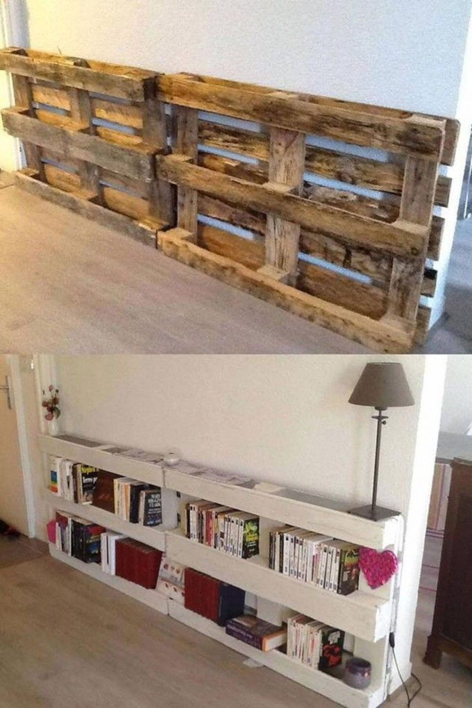 simphome wooden pallet bookshelf