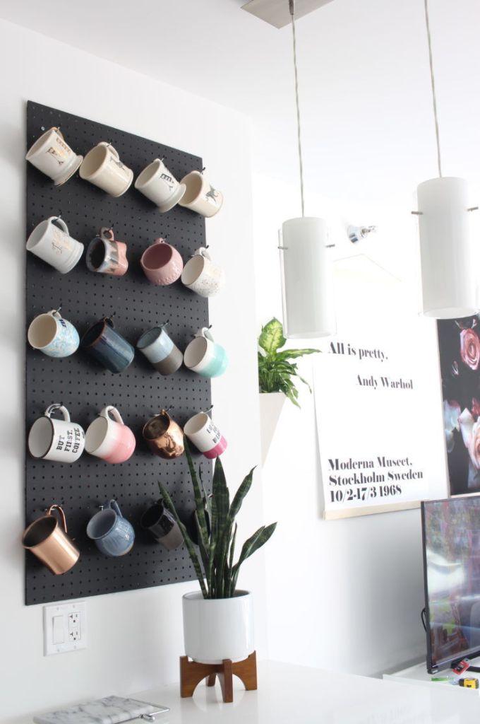 pegboard mug hanger